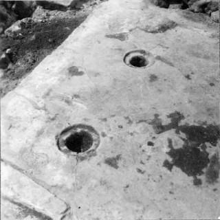 126, pelarbas detalj, foto Manne Hofrén 1949