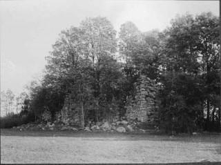 25, klosterruinen mot nordväst, från början av 1900-talet