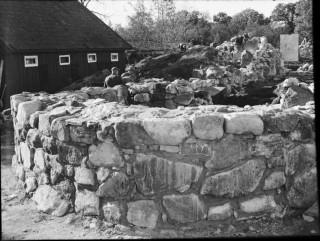 60, Korets östra mur, mot nordöst. Efter konservering.