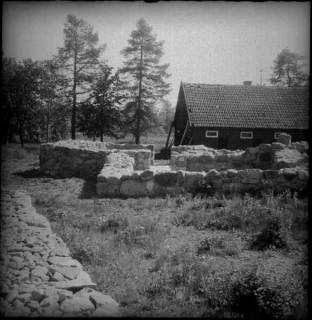 62, Sakristian mot norr. Efter konservering