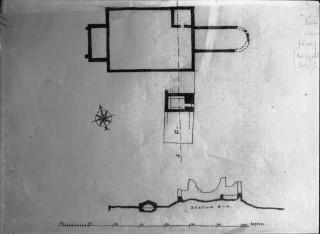81, planritning och elevationsritning, Fotot efter uppmätningsritning 1925 Kockum
