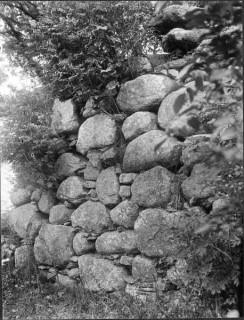 87, Del av norra långhusväggen foto Manne Hofrén 1931
