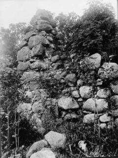 90, Norra långhusväggen, detalj foto Manne Hofrén 1931